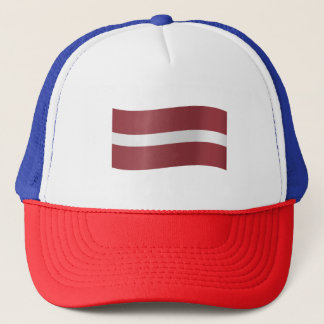 Latvia Flag Trucker Hat