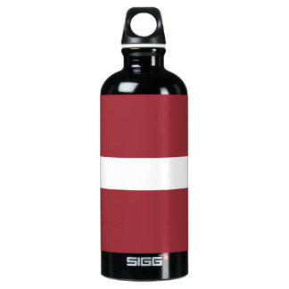 Latvia Flag Water Bottle