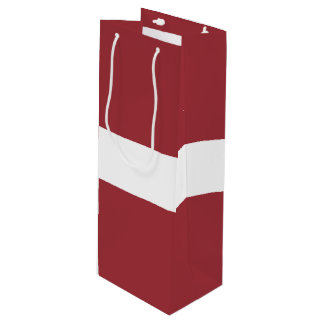 Latvia Flag Wine Gift Bag
