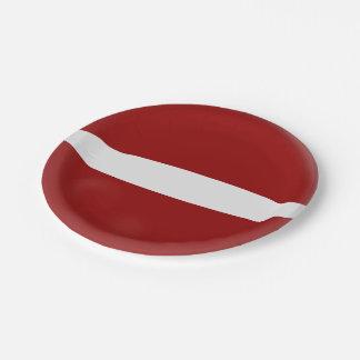 Latvia Latvian Flag Paper Plate
