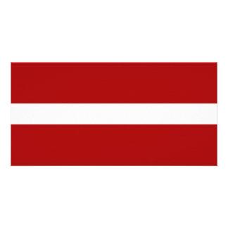 Latvia National Flag Photo Cards