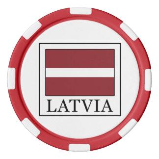 Latvia Poker Chip Set