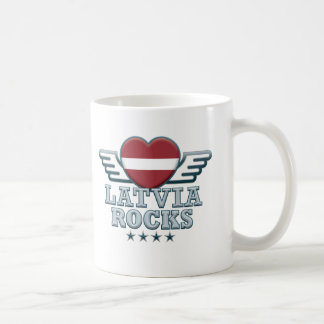 Latvia Rocks v2 Coffee Mug