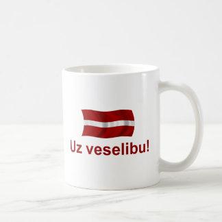 Latvia Uz veselibu! Coffee Mug