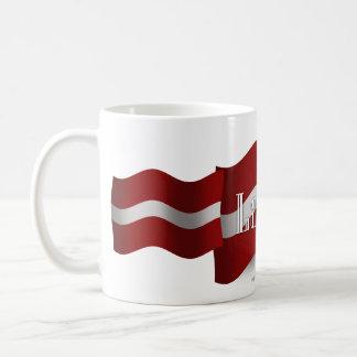 Latvia Waving Flag Coffee Mug