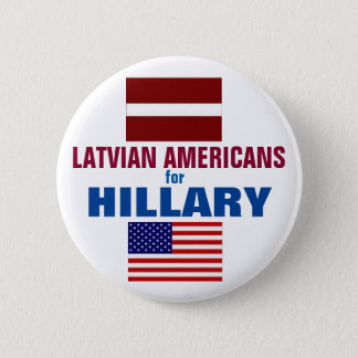Latvian Americans for Hillary 2016 6 Cm Round Badge
