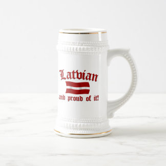 Latvian and Proud of It Beer Stein