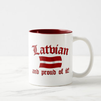 Latvian and Proud of It Two-Tone Coffee Mug