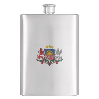 Latvian coat of arms hip flask