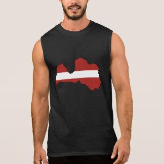 Latvian Flag Silhouette Sleeveless Shirt