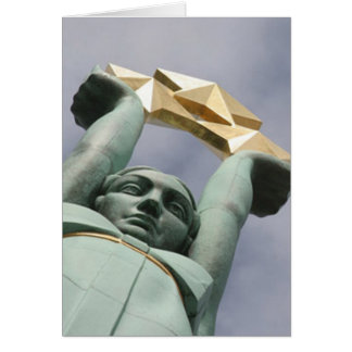 Latvian freedom monument card