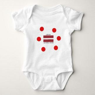 Latvian Language And Latvia Flag Design Baby Bodysuit
