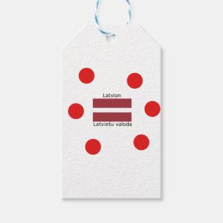 Latvian Language And Latvia Flag Design Gift Tags