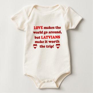Latvian Love Baby Bodysuit