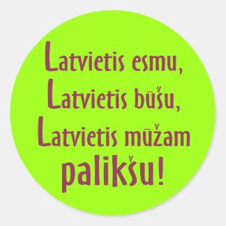 Latvian male loyalty creed sticker