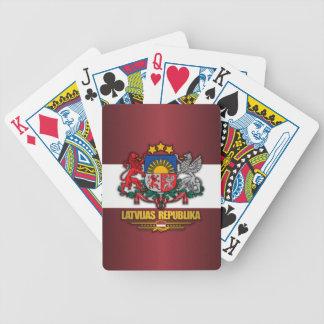 Latvian Pride Bicycle Playing Cards