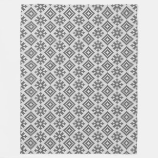 Latvian traditional pattern design fleece blanket