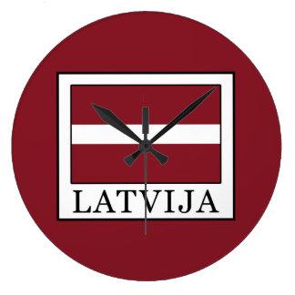 Latvija Large Clock