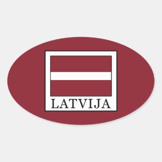 Latvija Oval Sticker