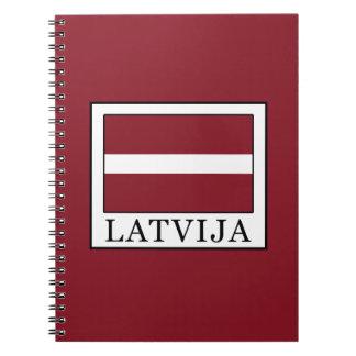 Latvija Spiral Notebook