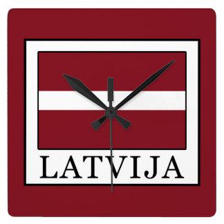 Latvija Square Wall Clock