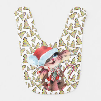 Lätzchen for the sweet Christmas mouse Bib