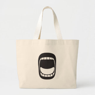 laud screaming big open mouth large tote bag