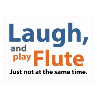 Laugh and Play Flute Postcard