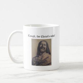 Laugh, for Christ's sake! Basic White Mug