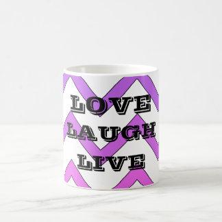 Laugh Love Live Chevron Mug
