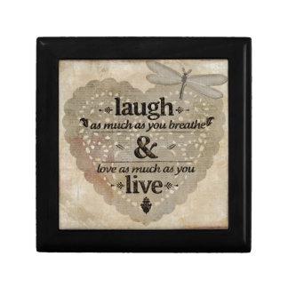 Laugh, Love, Live Small Square Gift Box