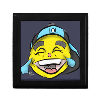 Laugh Out Loud Emoji Small Square Gift Box