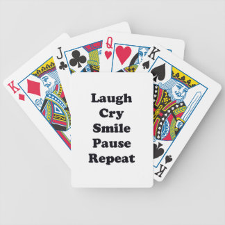 Laugh Repeat Bicycle Playing Cards