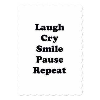 Laugh Repeat Card
