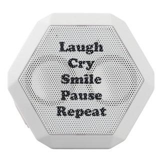 Laugh Repeat White Bluetooth Speaker