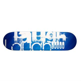 Laugh; Royal Blue Stripes Skate Board