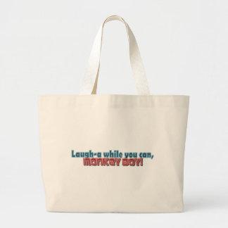 Laugh While You Can Monkey Boy Design Canvas Bag