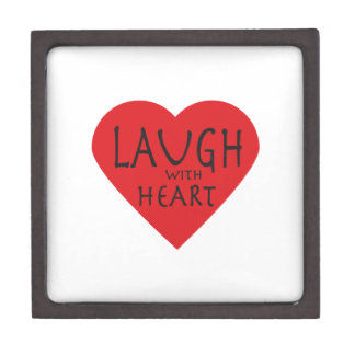 Laugh with Heart Premium Jewelry Box