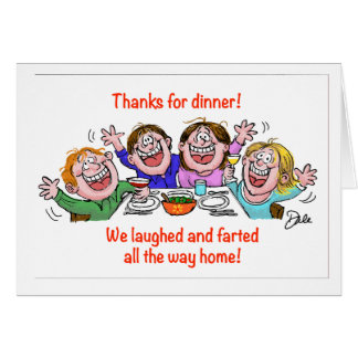 Laughed and Farted Card