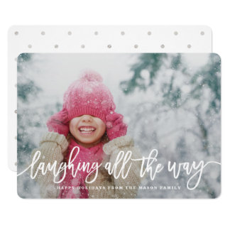 Laughing All The Way Holiday Photo 13 Cm X 18 Cm Invitation Card