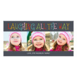 Laughing All The Way Holiday Photo Card Custom Photo Card