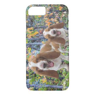 Laughing Basset Hounds iPhone 7 Case