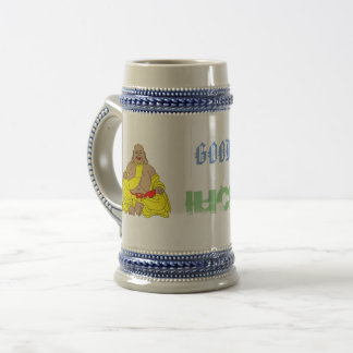 laughing buddha beer stein
