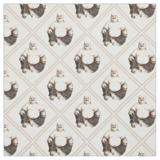 Laughing Buddha diamond pattern Fabric