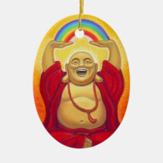Laughing Buddha Rainbow Ornament