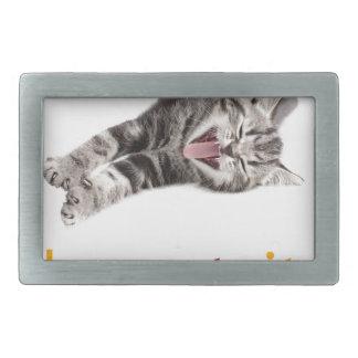 Laughing Cat Rectangular Belt Buckle