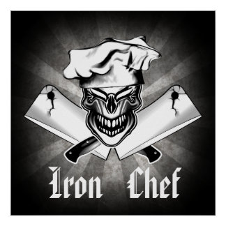 Laughing Chef Skull 1: Iron Chef Poster