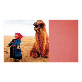 laughing child and her laughing camel pack of standard business cards