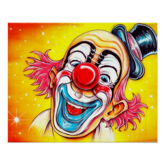 Laughing Clown Poster