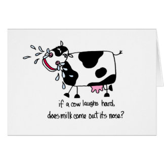 Laughing Cow, Birthday - Personalize It Card